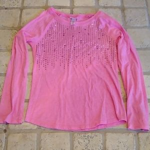 🌈3/$10 Girl's Pink Sparkle Long-Sleeved Shirt🌈